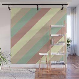 Natural Diagonal Stripe Pattern Wall Mural