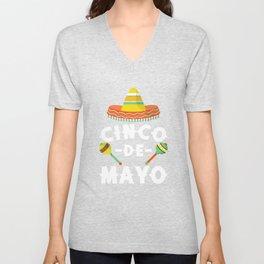 Cinco De Mayo - Funny Mexican Sombrero Maracas Unisex V-Neck