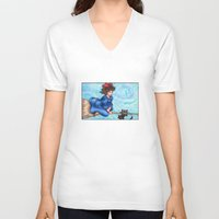 kiki V-neck T-shirts featuring Kiki by Kimberly Castello