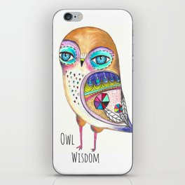 Owl Wisdom iPhone Skin