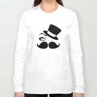mustache Long Sleeve T-shirts featuring mustache  by LCMedia
