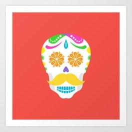 Mouscacho Skull 2 Art Print