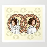 leia Art Prints featuring Leia by Miguel Angel Carroza