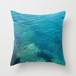 Beau Aqua Throw Pillow