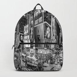 Times Square II (B&W widescreen) Backpack