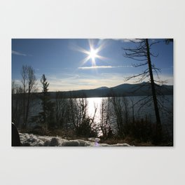 Winter High Mountain Lake in Oregon Canvas Print