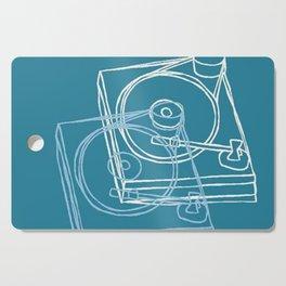 Blue Record Player Cutting Board