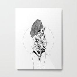 The girl Metal Print