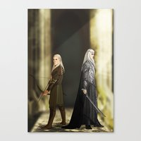 legolas Canvas Prints featuring Legolas & Thranduil by rdjpwns