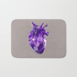 polygon heart // ultraviolet & silver Bath Mat
