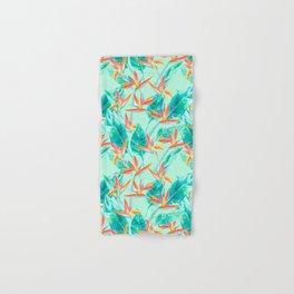 Birds Of Paradise Mint Hand & Bath Towel