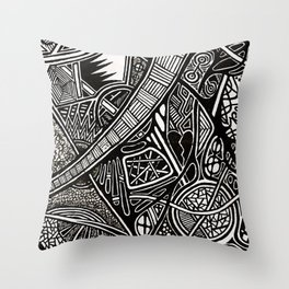 Shhh! They Can Hear Twos Throw Pillow