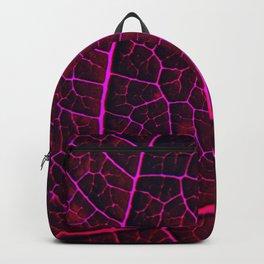 LEAF STRUCTURE RED VIOLET Backpack