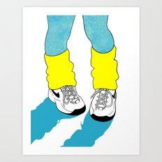 Rainbow Gossip - Blue Art Print