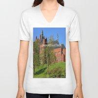 downton abbey V-neck T-shirts featuring Downton Desire by Nonna Originals