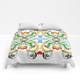 Scandinavian Folk Art ~ Tulip Mosaic Comforters
