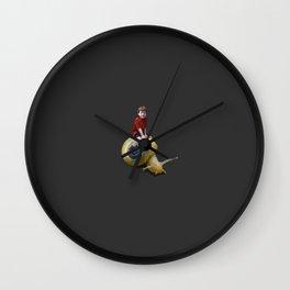 Boy on a snail Wall Clock