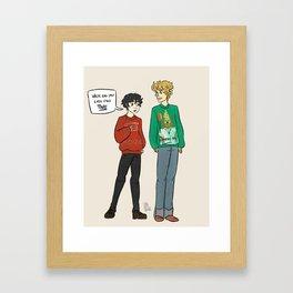 xmas solangelo Framed Art Print