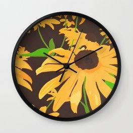 Black-eyed Susan's Wall Clock