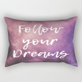 Follow Your Dreams Sky Rectangular Pillow