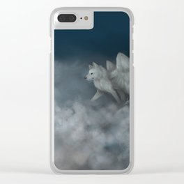 Angel Wolf Clear iPhone Case