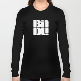 BINDU logo white Long Sleeve T-shirt