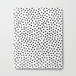 Dalmatian Dots Black White Spots Metal Print