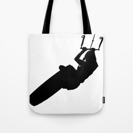 Time To Wake Up Kiteboarder Silhouette Tote Bag