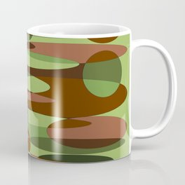 Trendy Green and Brown Camouflage Spheres Coffee Mug