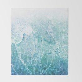 Sea Dream Marble - Aqua and blues Throw Blanket
