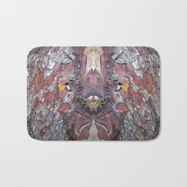 """""""Face in the Tree"""" Pacific Madrone Reflection Bath Mat"""