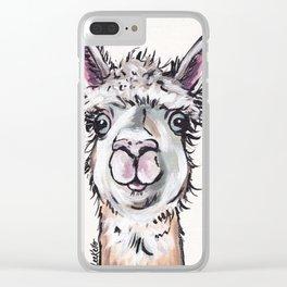 Maggie the Alpaca, Alpaca Art Clear iPhone Case