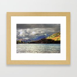 Storm clouds over big mountain  Framed Art Print