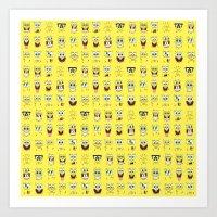 spongebob Art Prints featuring spongebob  , spongebob  games, spongebob  blanket, spongebob  duvet cover by ira gora
