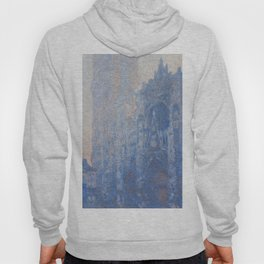 1894-Claude Monet-Rouen Cathedral Façade and Tour d'Albane (Morning Effect)-74 x 106 Hoody