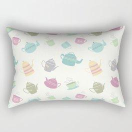 Coffee and Tea Pots (Light Version) Rectangular Pillow