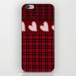 Hearts & Flannel iPhone Skin