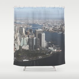 NYC Downtown Aerial Shower Curtain