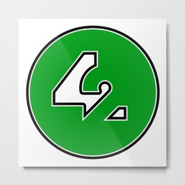42 - Green Metal Print