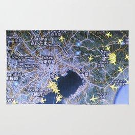 Tokyo on the radar map Rug