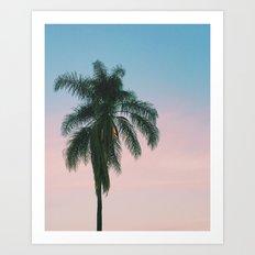 Pastel Palm Art Print