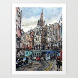 Victoria Street, Edinburgh Art Print