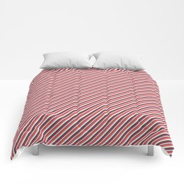 Red Inclined Stripes Comforters