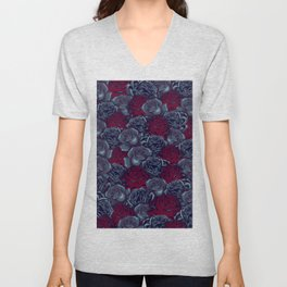Stop and Smell the Roses CRIMSON MOONLIGHT Unisex V-Neck