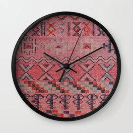 V21 New Traditional Moroccan Design Carpet Mock up. Wall Clock