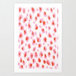 Pink Leopard Art Print