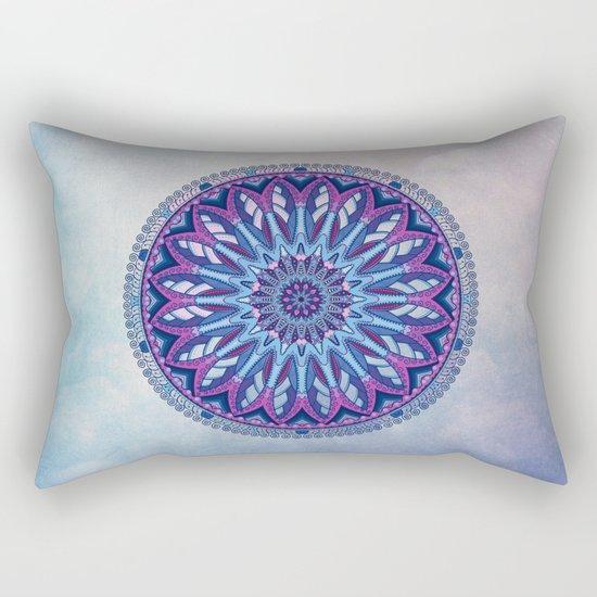 Iris Mandala Rectangular Pillow