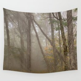 Misty Spruce Knob Forest Wall Tapestry