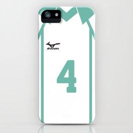 #4 Hajime Iwaizumi Aoba Johsai Team Uniform Jersey iPhone Case