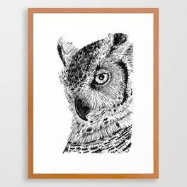 Ink Owl Framed Art Print